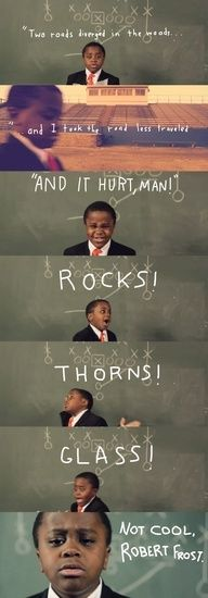 Kid president on robert frost. too funny. love me my kid president ♡ Infj, I Smile, Make Me Smile, Pep Talks, I Love To Laugh, It Goes On, Just For Laughs, The Funny, Freaking Hilarious