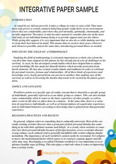 http://www.integrativepaper.com/professional-integrative-paper-sample/ Many students struggle with writing an integrative paper, but you do not have to if you check out this sample to help you