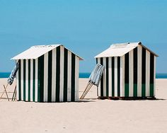 Great new vacation spots that has everyone buzzing What A Beautiful World, Beautiful Places, Beach Cabana, Beach Huts, Pottery Houses, Nautical Stripes, Happy Summer, Cottage, Luxury Travel