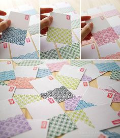 Japanese tradition pattern card
