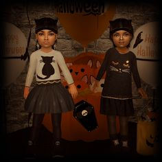 Sims2City: Happy Halloween! Outfits for your pretty kittens