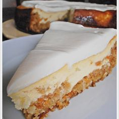 Just like #cheesecakefactory! Try this #carrotcake #cheesecake