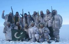 Captain Haleem with his team in Siachen