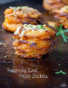 Galettes de patates douces rôties.