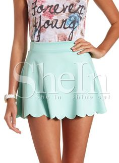 Shop Green High Waisted Skater Skirt online. SheIn offers Green High Waisted Skater Skirt & more to fit your fashionable needs.