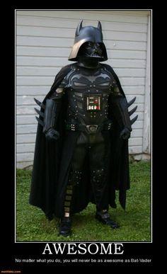 Nothing beats Bat-Vader! lol