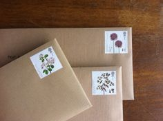 envelopes... and pretty stamps