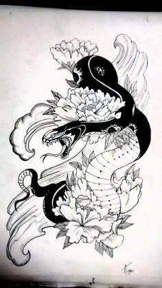 #Snake #4 ink