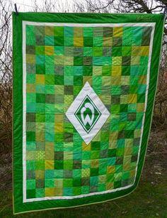 Ein Spendenquilt für einen kleinen Werder-Breme-Fan !