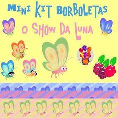 o show da luna - mini kit borboletas - scrapbook - sr arts- 10 Cliparts (Elementos sem Fundo) em Alta Resolução Formato PNG - BRINDE: 3 Papéis Digitais Exclusivos em Formato PNG 3600x3600px 300dpi sergio roberto arts
