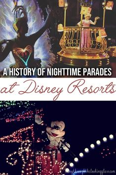 Disney's electrical parades are one of a kind - and there have been many variations over the years! Check out this round up of all the Disney nighttime parades #disney #disneyworld | disney vacation | disney tips | disney secrets