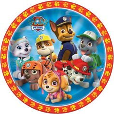 Paw Patrol Dinner Plates - 8 Pk Party Supplies Canada - Open A Party Paw Patrol Cake, Paw Patrol Birthday, Imprimibles Paw Patrol, Paw Patrol Stickers, Paw Patrol Party Supplies, Open A Party, Paw Patrol Decorations, Cumple Paw Patrol, Party Plates