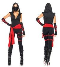 Style Name: Woman Adult Deadly Ninja Warrior Costume Fancy Party Dress Set Market Price: $67.20 Siz