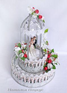 "Gallery.ru / Фото #1 - Букеты из конфет в Челябинске ""Свадьба и любовь"" - natapetskus Lantern Centerpiece Wedding, Floral Centerpieces, Wedding Crafts, Wedding Favors, Wedding Hamper, Happy Anniversary Cakes, Candy Flowers, Edible Crafts, Wedding Plates"