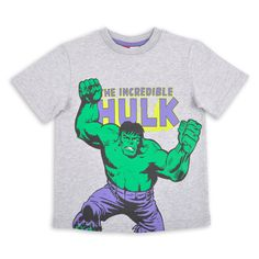 Franela EPK para niño gris con estampado de Hulk al frente