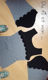 Du fil et mon...: Haut Givre : Printemps Givré Chudidhar Neck Designs, Salwar Neck Designs, Neck Designs For Suits, Kurta Neck Design, Sleeves Designs For Dresses, Blouse Neck Designs, Sleeve Designs, Dress Sewing Patterns, Fabric Sewing