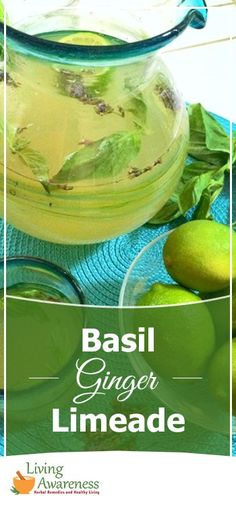 What would it mean for our health if we drank delicious, medicinal healing beverages for our daily refreshment?  Try this crowd pleasing Basil Ginger Lemonade http://livingawareness.com/basil-ginger-lime-aid/