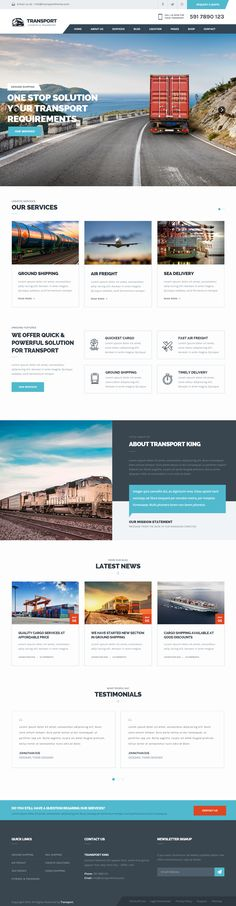 Transport is Premium full Responsive Retina #Logistic #HTML5 #Template…