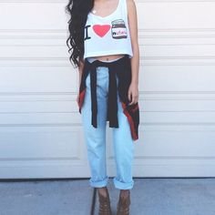 I love Nutella cropped tank Cropped tank top. Never worn (except for photo) Tops Crop Tops