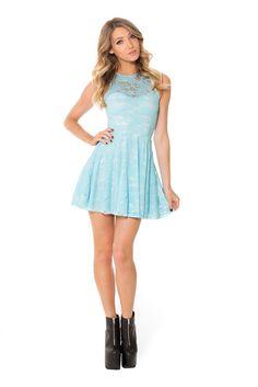 Sky Blue Lace Skater Dress – Black Milk Clothing