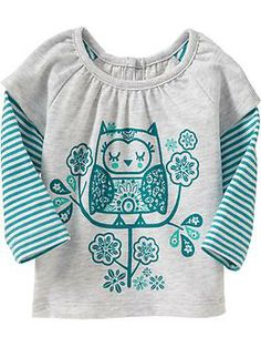2-in-1 Striped Tops for Baby (Old Navy 0-24m)