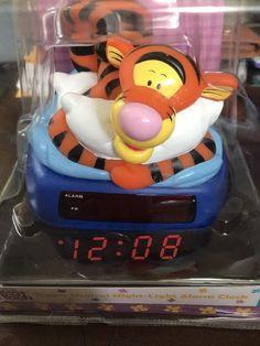 DISNEY Tigger Musical Night Light Alarm Clock Brand New In The Box Digital Clock #FANTASMA