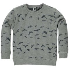 Grijze pull met stoere roofvogel-print - Tumble 'n Dry - Mister Monkey and Misses Butterfly
