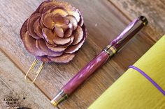 Flower Planner Clip for Traveler Notebooks from The Leather Quill Shoppe