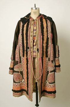 Coat Date: Culture: probably Romanian Medium: leather, brass, cotton Dimensions: Length at CB: 14 in. cm) Credit Line: Purchase, Irene Lewisohn Bequest, 1979 Accession Number: Parisienne Chic, Vintage Dresses, Vintage Outfits, Vintage Fashion, Folklore, Tweed, Empire Ottoman, Streetwear, Thing 1