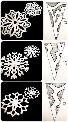 Paper Snowflakes - Cutting PATTERNS
