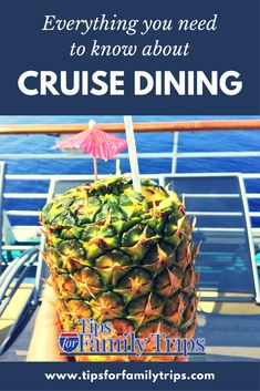 Everything you need to know about cruise ship dining. You have so many options! Find out what to expect and pick the best for your family   tipsforfamilytrips.com   cruise food   cruise tips   Royal Caribbean #ad   family vacation