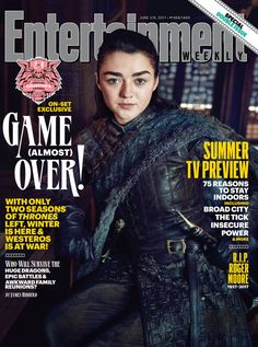 Game of Thrones: Maisie Williams (Arya Stark) (photo via Entertainment Weekly) Entertainment Weekly, Game Of Thrones, Medici Masters Of Florence, Set Game, Daily Star, House Stark, Maisie Williams, Epic Games, Tips Belleza