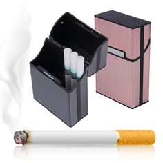 >> Click to Buy << 1PC New Aluminum Alloy Cigarette Case Portable Light Cigar Tobacco Holder Pocket Box Storage Container Case High Quality #Affiliate