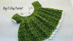 CROCHET How To #Crochet Lil Sprout Baby Dress 0-6 months TUTORIAL #363 L...