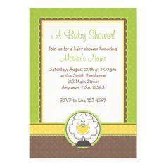 Yellow/Green Baby Shower Invite idea