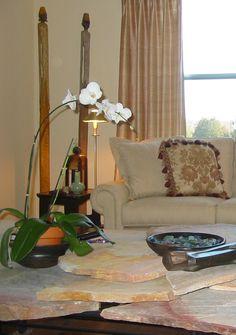 Vignette in the living room. Designer Lena Kroupnik. #LenaKroupnik #interiordesignerdc