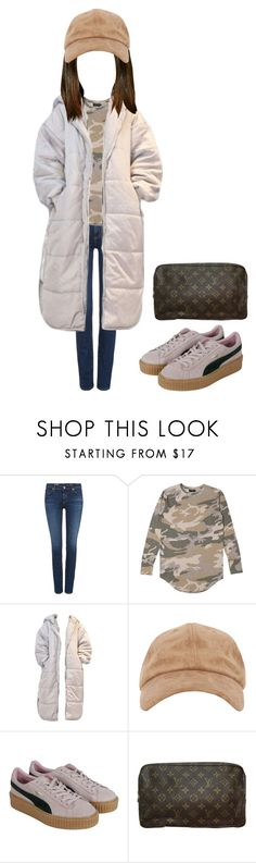 """""""Untitled #130"""" by lolawolf ❤ liked on Polyvore featuring AG Adriano Goldschmied, Puma and Louis Vuitton"""