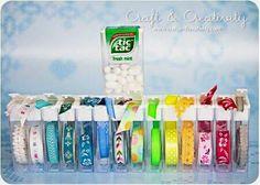 ARTE COM QUIANE - Paps,Moldes,E.V.A,Feltro,Costuras,Fofuchas 3D: reciclando potinho de tic-tac