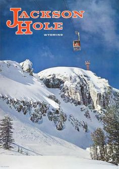 1960s Jackson Hole, Wyoming Ski Poster