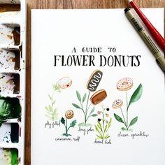 Flower donuts // by Kristin Van Leuven