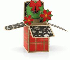 Silhouette Design Store: a2 wreath christmas box card by Lori Whitlock