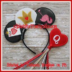 Mouse Ear Headband - Q of H, Flamingo, Cards