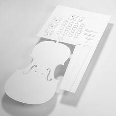 DIY paper violin