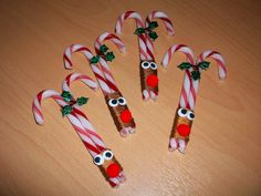 Candy Cane Reindeer More christmas fun Christmas Candy Crafts, Candy Cane Crafts, Homemade Christmas Gifts, Christmas Activities, Christmas Goodies, Christmas Projects, Kids Christmas, Holiday Crafts, Christmas Decorations