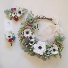 renonculeさんはInstagramを利用しています:「* Anemone ▷ wreathe bouquet ▷ boutonniere ▷ headdress 人気のアネモネをメインに作成しました☺️」 Wedding Bouquets, Wedding Flowers, Keep It Simple, Chicago Wedding, Wedding Trends, Paper Flowers, Diy And Crafts, Floral Wreath, Wedding Decorations