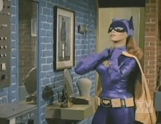 Yvonne Craig as Batgirl from the Batman TV Show and like OMG! get some yourself some pawtastic adorable cat apparel! Batman 1966, Im Batman, Batman Robin, Superman, Batgirl Cosplay, Batman Tv Show, Batman Tv Series, Yvonne Craig, Batgirl Of Burnside
