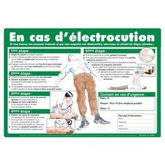 Affiche de premiers secours sur les gestes à faire en cas d'électrocution | Seton FR