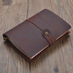 Handmade Leather Traveler's Notebook Cover Minimalist by Onequeen