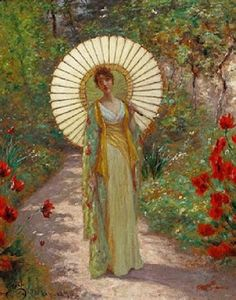 The Japanese Parasol ~William John Hennessy, 1890.