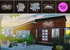 Restaurant logo ideas at Dominationkid • Sims 4 Updates